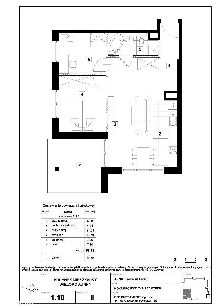 apartamenty Green Place Łabędy - Poezji | 56,28 |