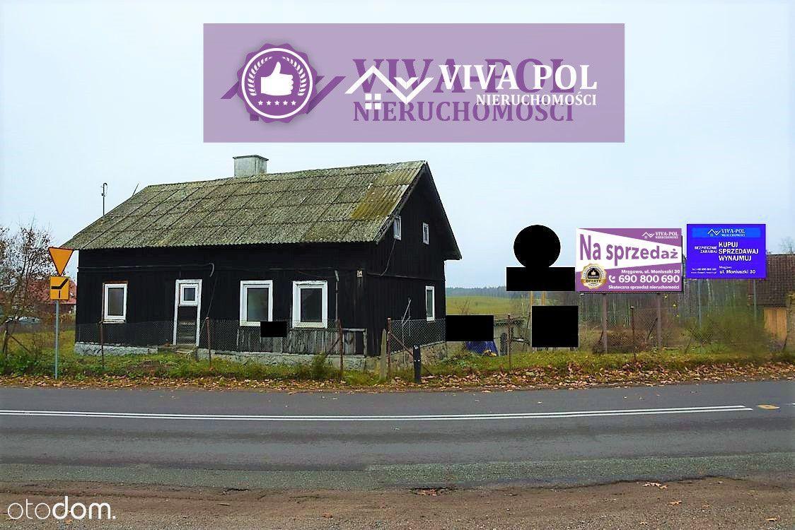 Mazurski, klimatyczny dom + 2 budynki gospodarcze
