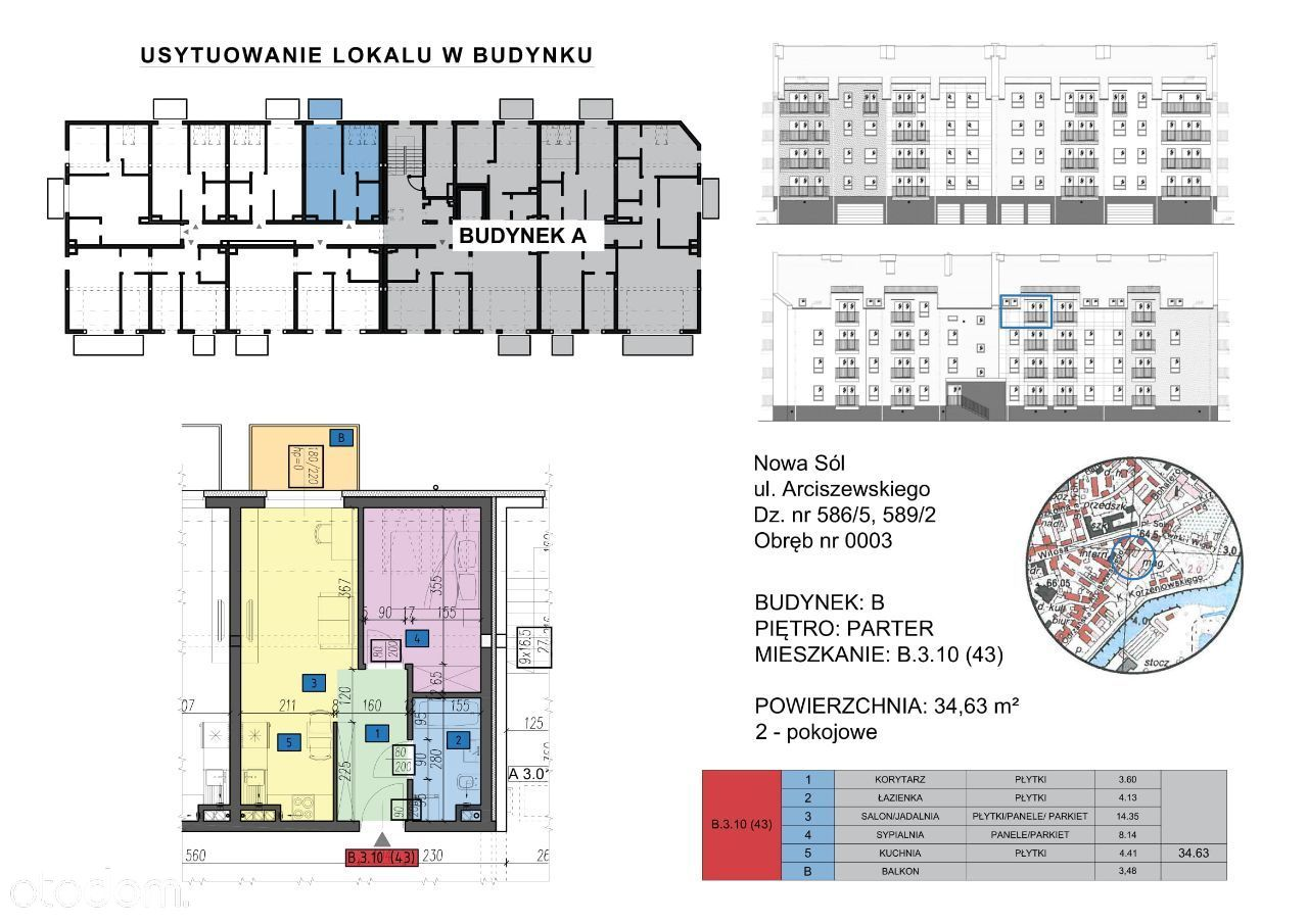 Mieszkanie: B.3.10 (43) - 3 pokoje