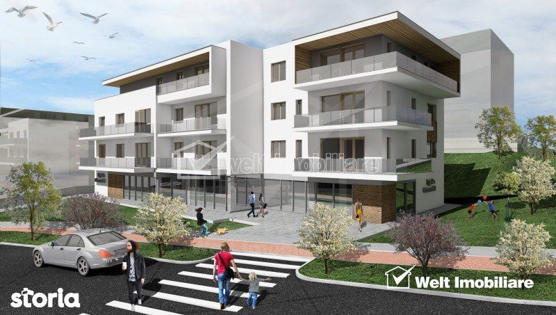 Penthouse 3 camere, la 3 minute de Gheorgheni, terasa 27,55 mp, zona B