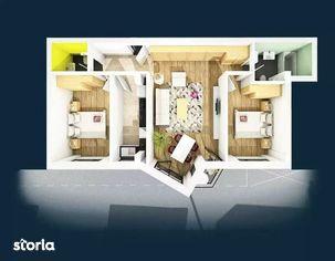 Apartament 3 camere, 70,54 mp, semifinisat, zona Centrala