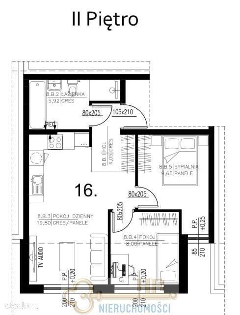 Mieszkanie, 47,50 m², Marki