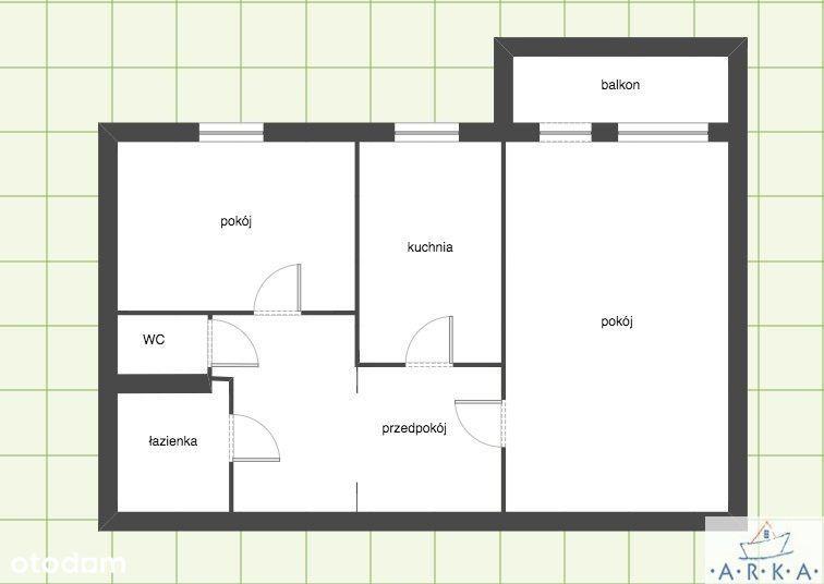 Jasne 2 pokoje z balkonem, I piętro, Bandurskiego