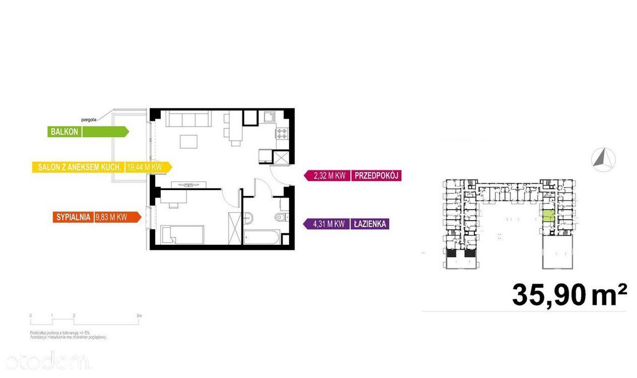 Apartament 36m2, 2 pok, Gwarancja Najniższej Ceny!