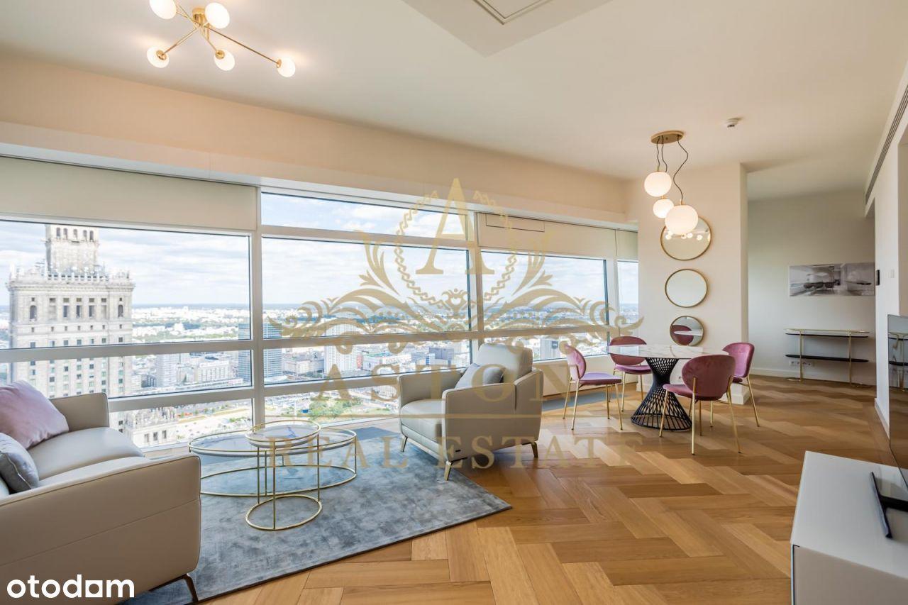 Exquisite apartment on 37th floor on Złota 44