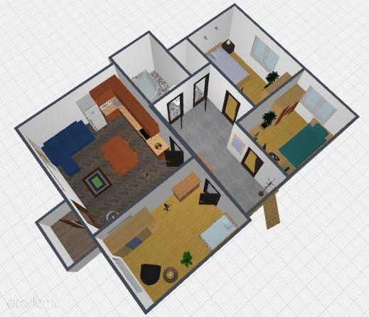 Osmeckiego, 3 pokoje, 2 piętro, 58,5 m2