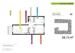 3 pokojowe mieszkanie B.3.2.03