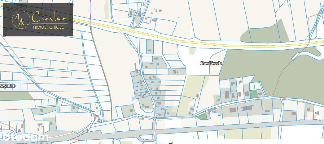 Działka, 1 429 m², Pawłówek