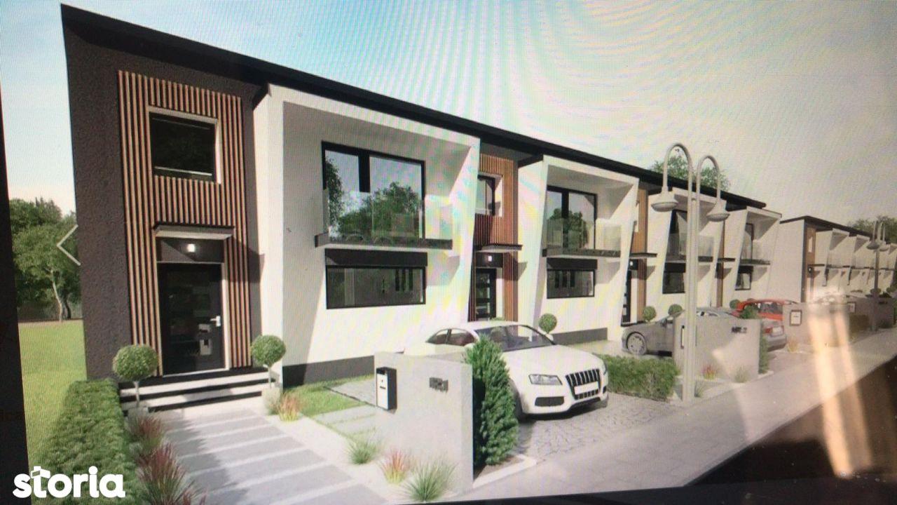 Casa triplex, model deosebit, intrare Moara