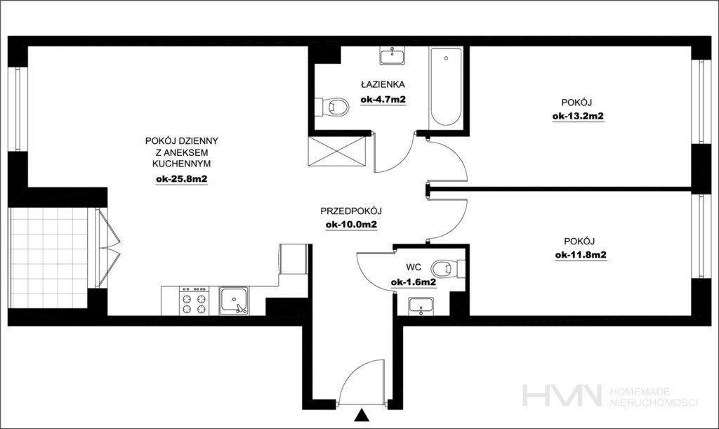 3 pokoje, dwustronne, Przewóz, Bez Prowizji i Pcc