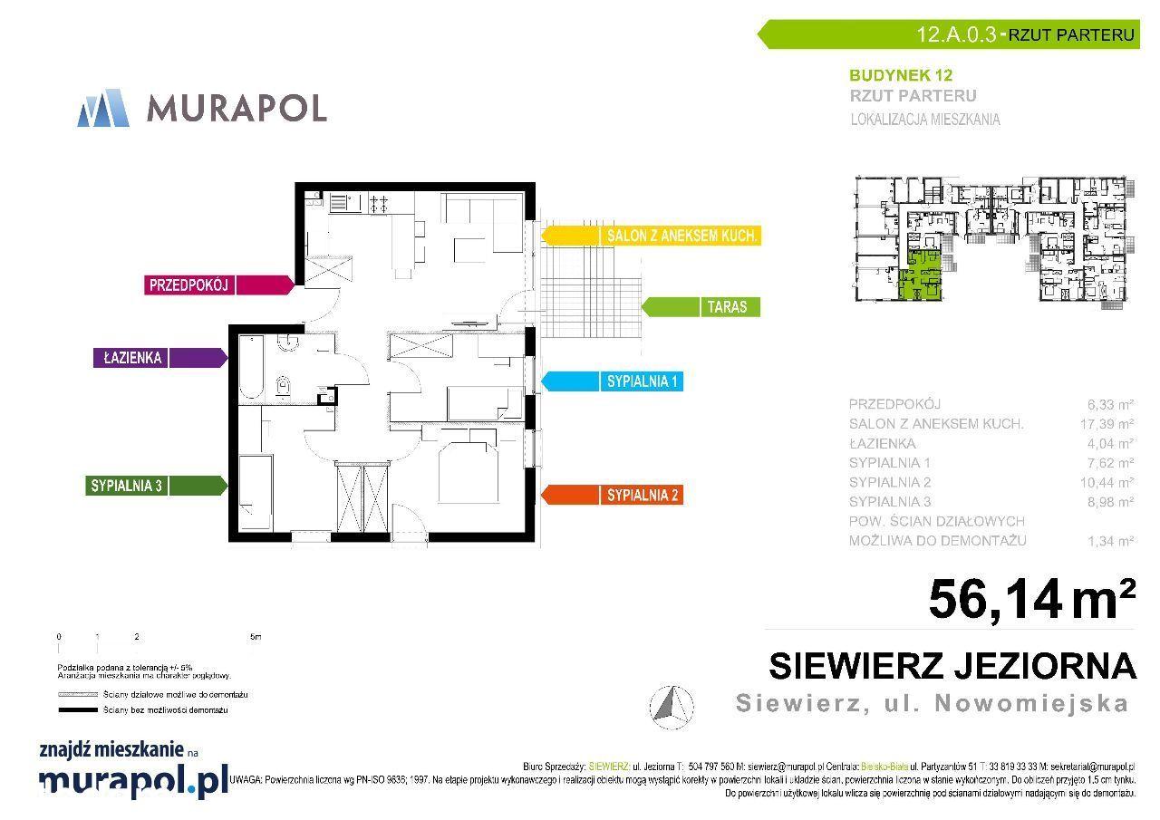 Mieszkanie Deweloperskie 4 pokoje, 77m2 OGRÓDKA !