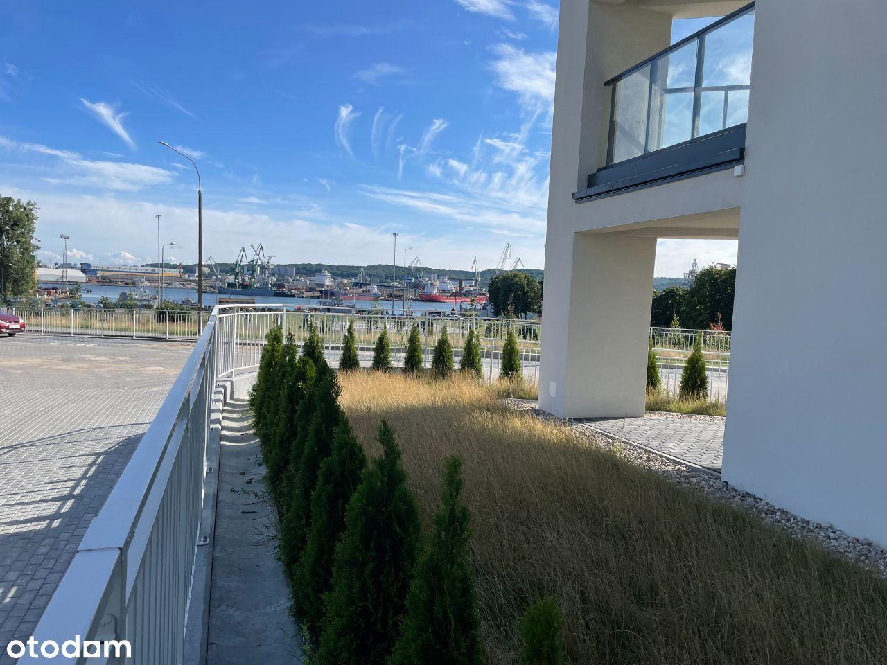 Narożne Mieszkanie, Widok na Port, Ogródek 80 m2