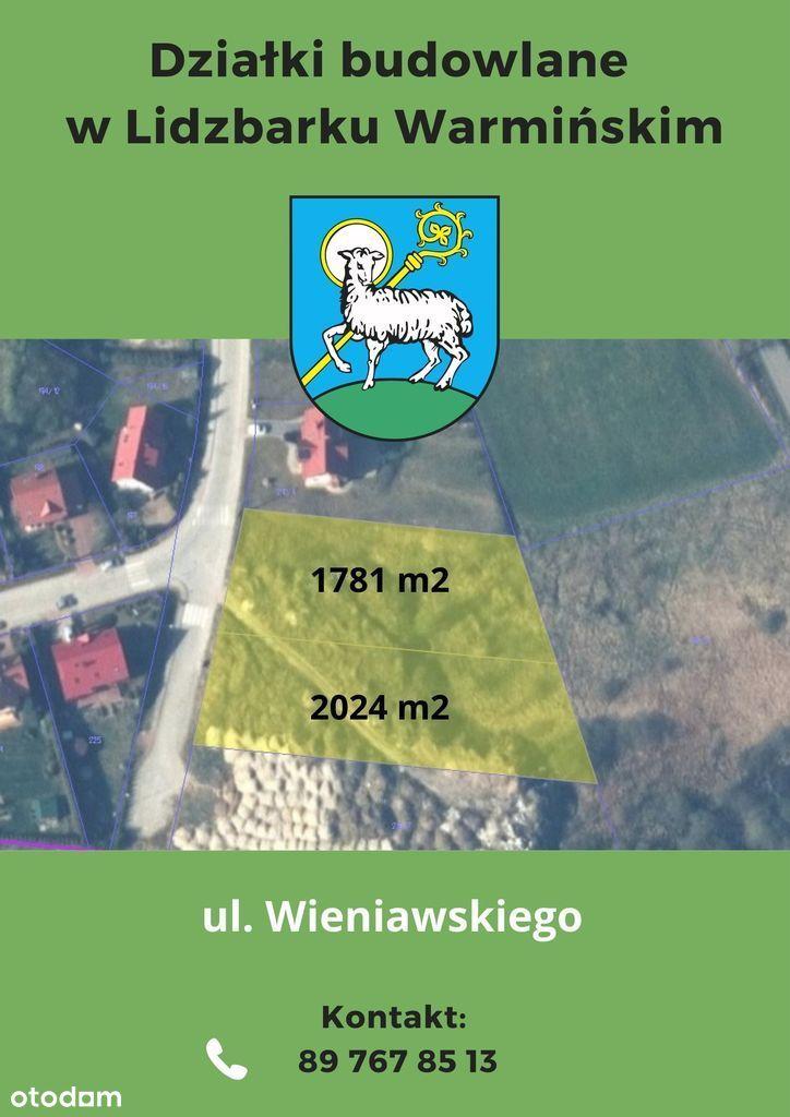 Działka, 1 781 m², Lidzbark Warmiński