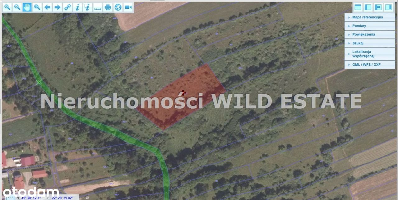 Działka, 2 800 m², Lesko