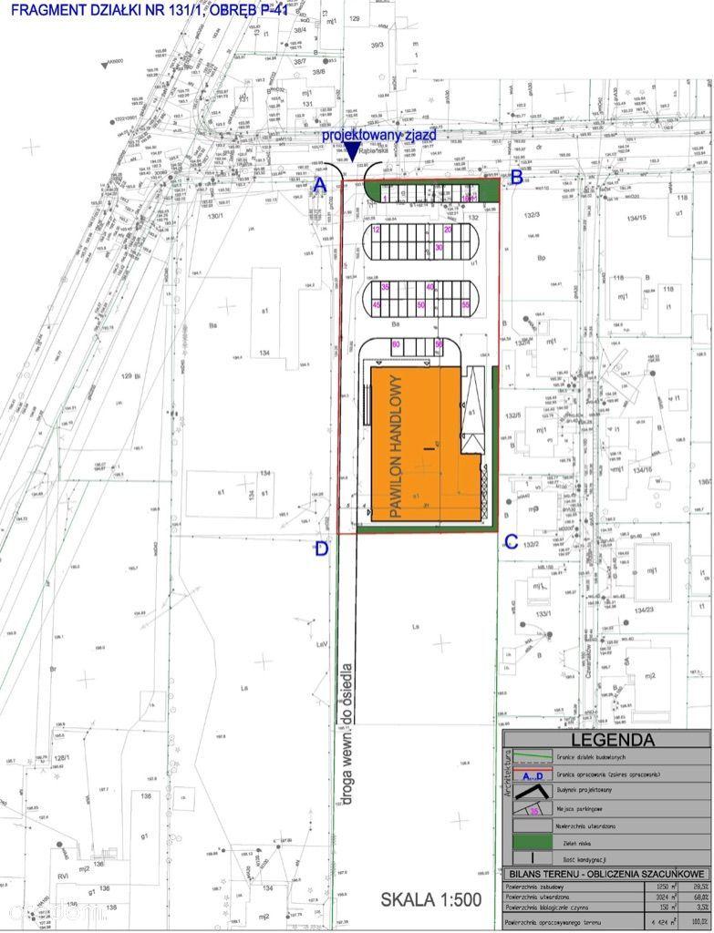 RĄBIEŃSKA 5000m2 pod pawilon handlowy market