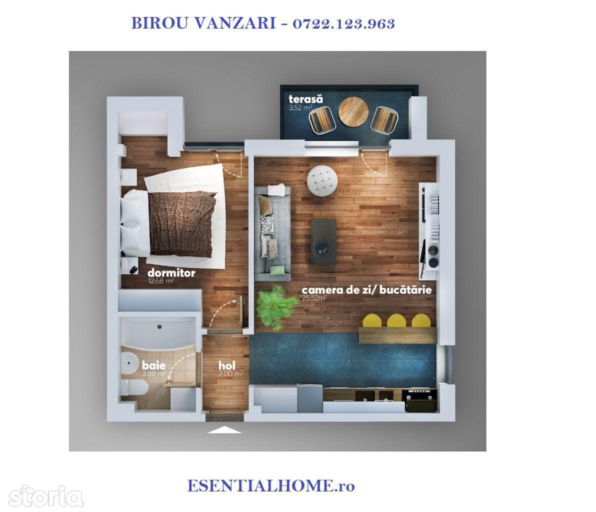 Apartament 2 camere Aparatorii Patriei - Berceni