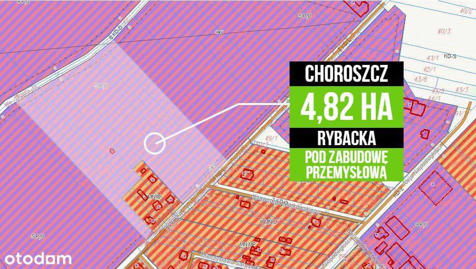 4,82 ha Choroszcz Rybacka - pod Hale/ Magazyny
