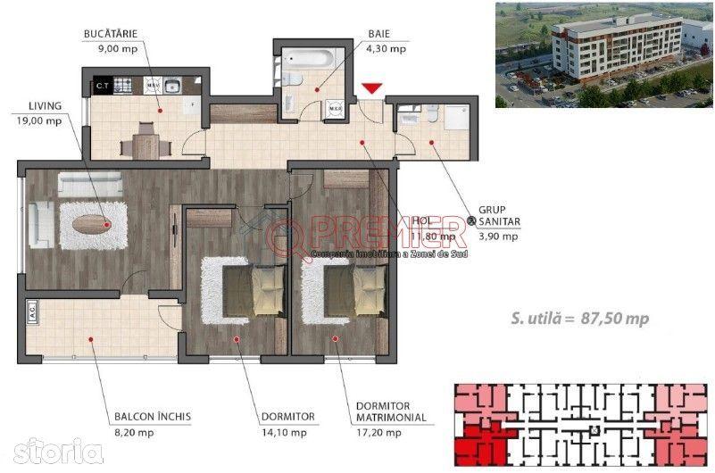 Berceni | Apartament 3 camere | Decomandat
