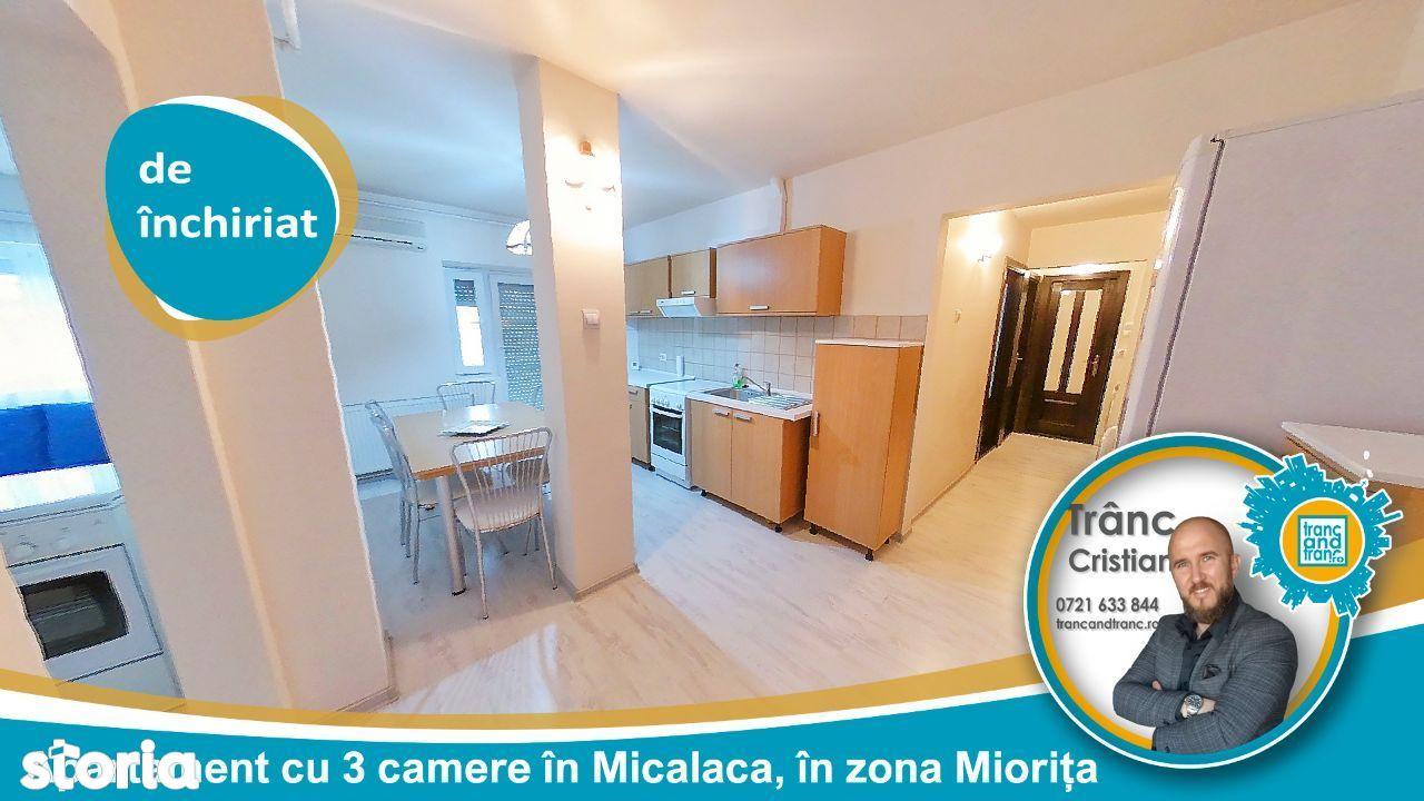 Apartament de inchiriat cu 3 camere, renovat recent la Miorita