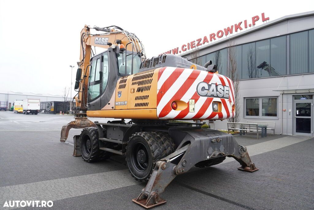 Case WX 168 , 18t , rotator ,grapple , blade ,supports , joystick , A - 16