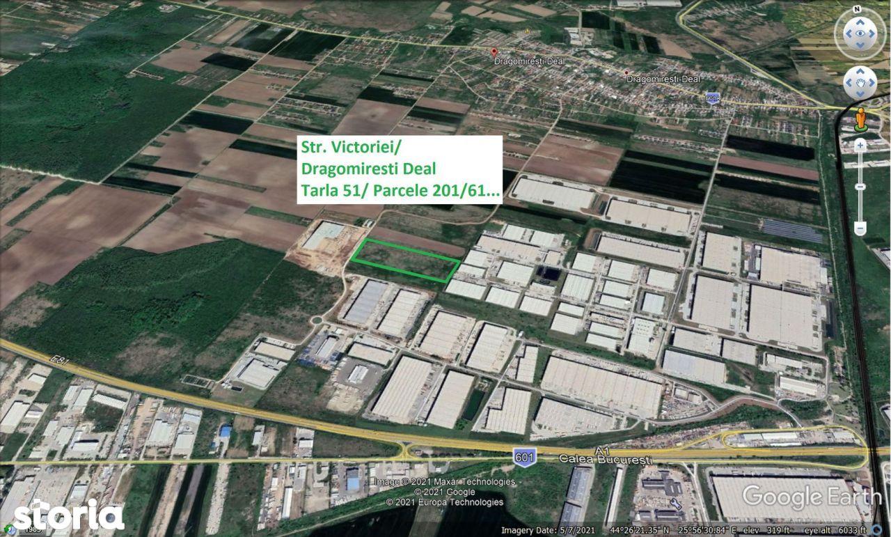 Teren proiectr logistic de vanzare A1 Km 13 Business Park
