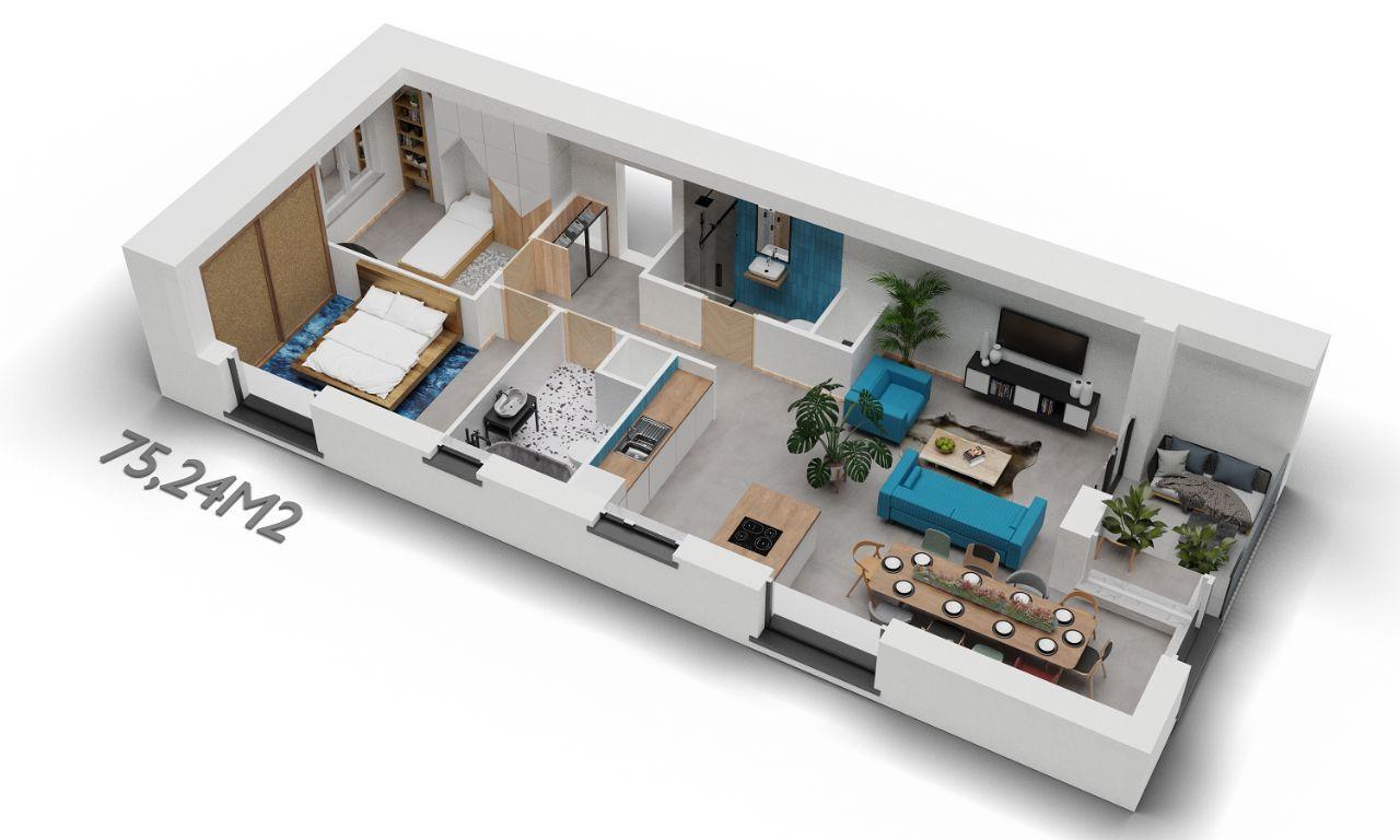 3 pokoje w okolicy Śródki i Malty od dewelopera