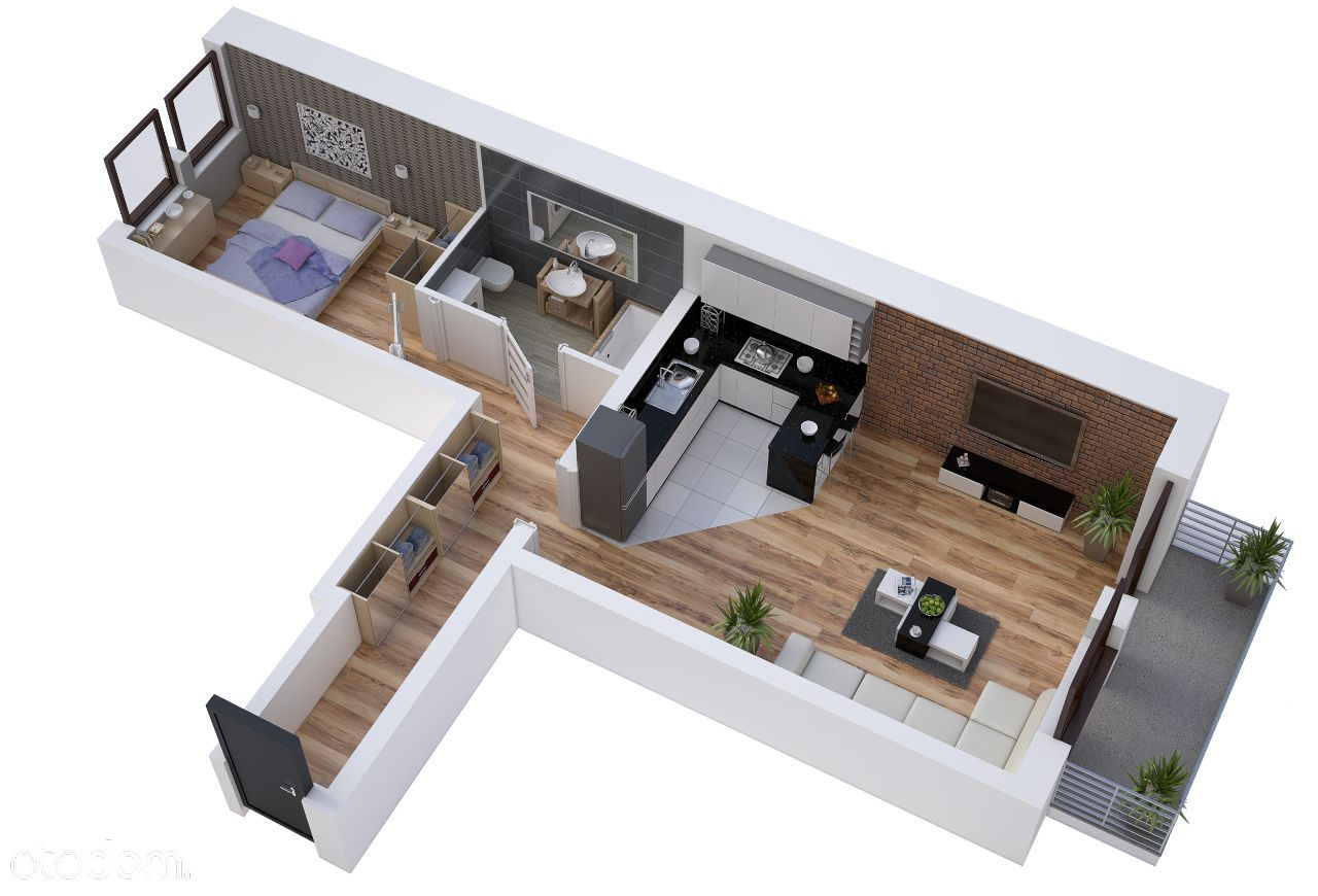 Nowe Mieszkanie Oborniki Śląskie 2 pok. z balkone