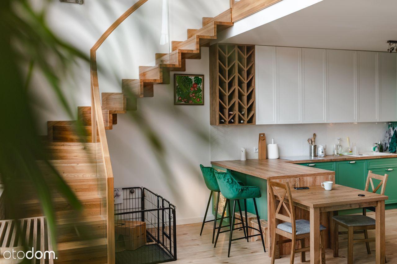 Mieszkanie 87,7 dwupoziomowe z tarasami, 3 pokoje