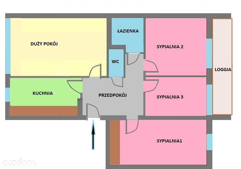 4 pokojowe 64m2, parking, Krowodrza