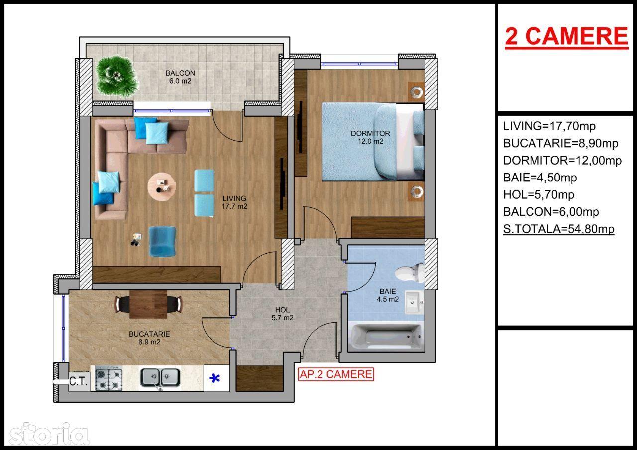 Apartament 2 camere Berceni la 8 minute de metrou