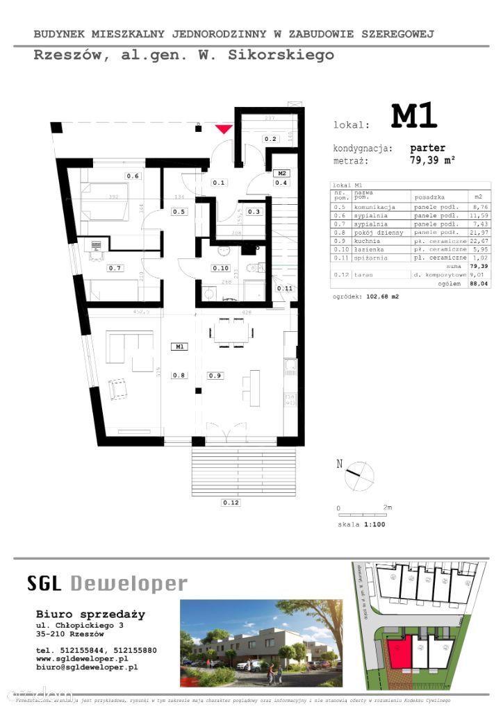 Przestronne mieszkanie - M1 | budynek A