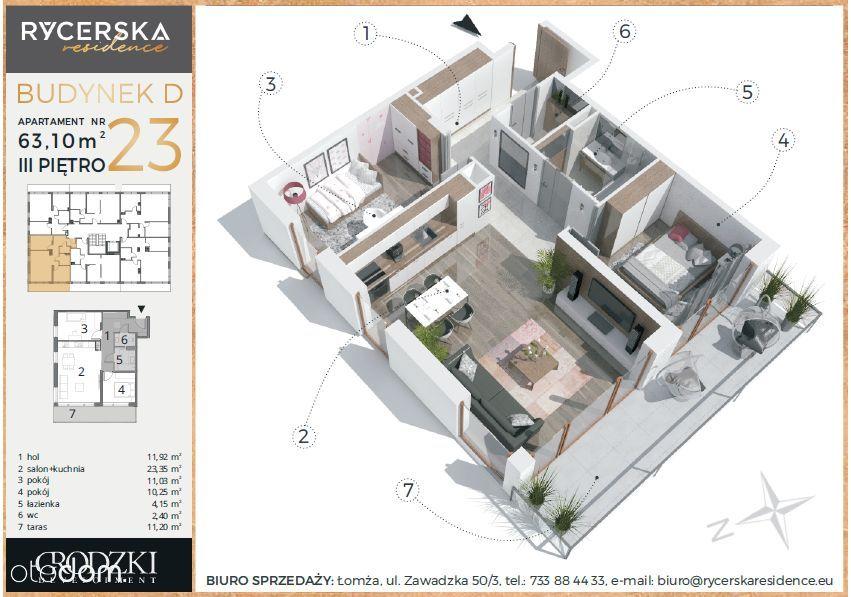 Rycerska Residence - Apartament 63,10m2