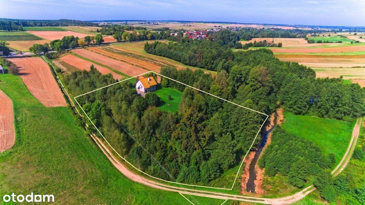 Dom w pięknej okolicy nad strumykiem Węglin
