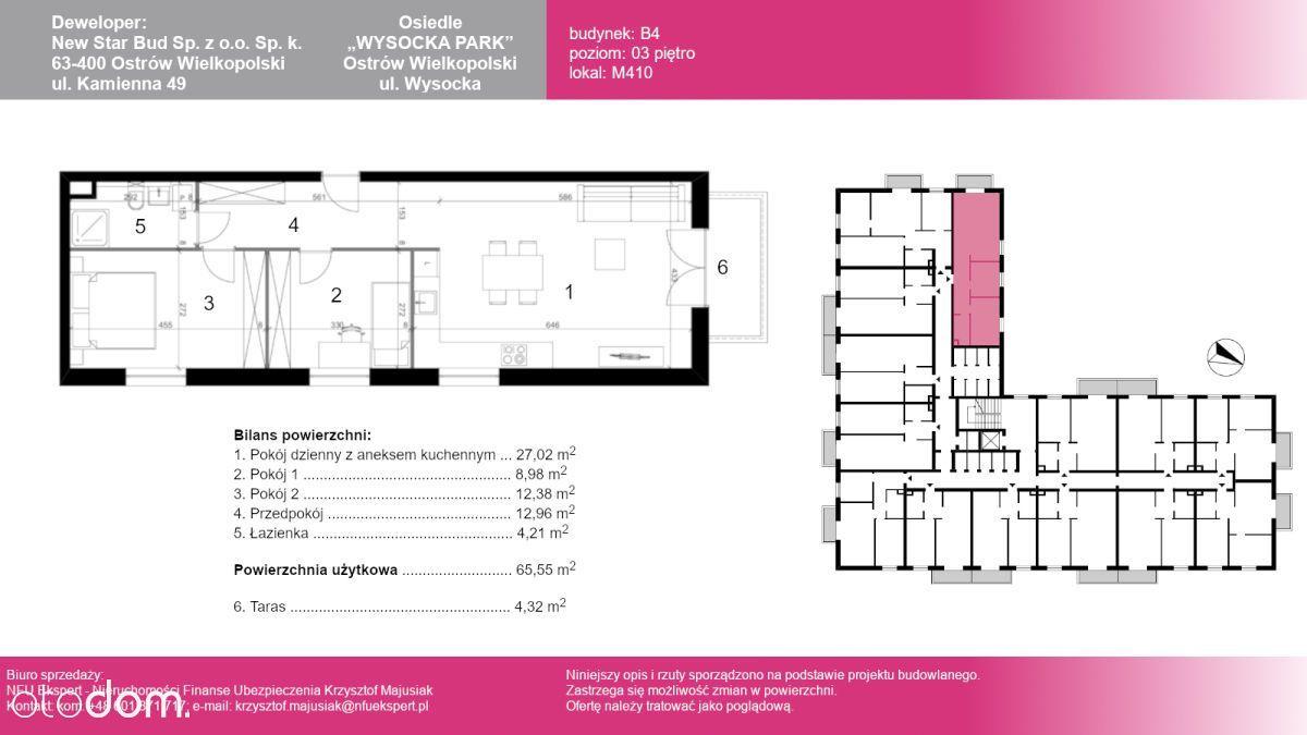 Mieszkanie M410, 62,16 m2