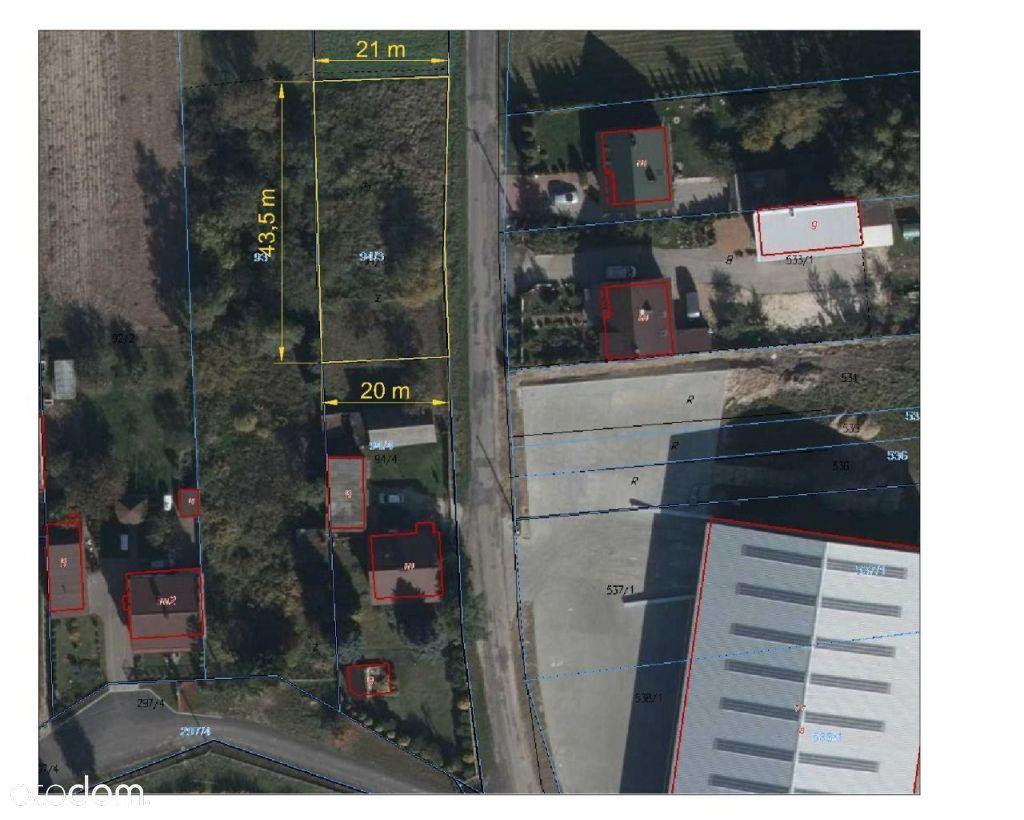 Działka budowlana - Kietlin, 5 km od Radomska