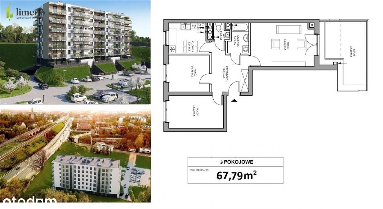 Mieszkanie 69,79m2, os. Na Skarpie, ul. 15 Dywizji