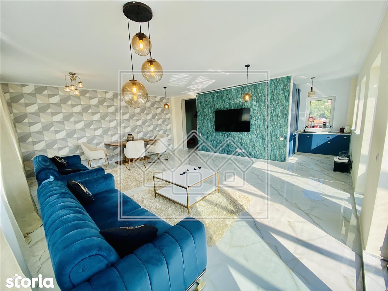 Penthouse mobilat si utilat de lux, cu terasa si jacuzzi \/ Cisnadie