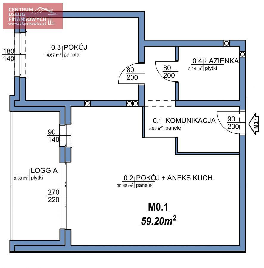 Nowe budownictwo 57,18 m2, Wołodyjowskiego, Polk