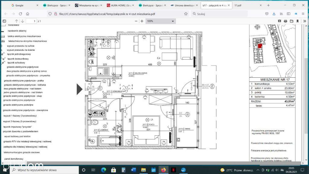 Okazja! Atrakcyjne Mieszkanie 2-pokojowe 43,3m²