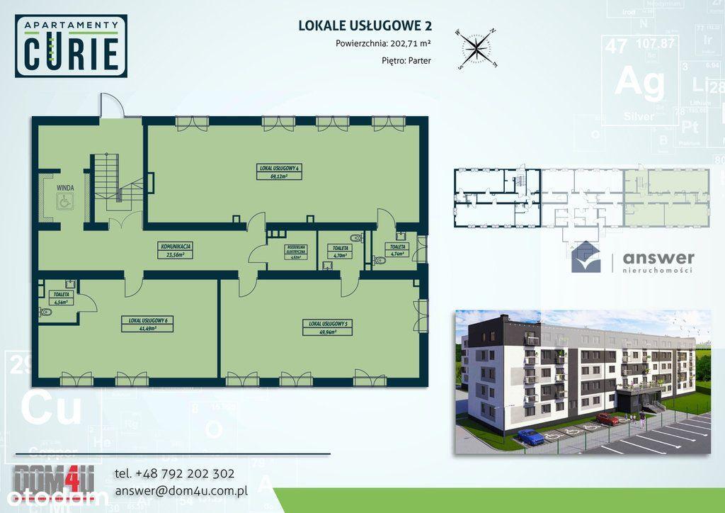 Lokal użytkowy, 202,71 m², Lubin