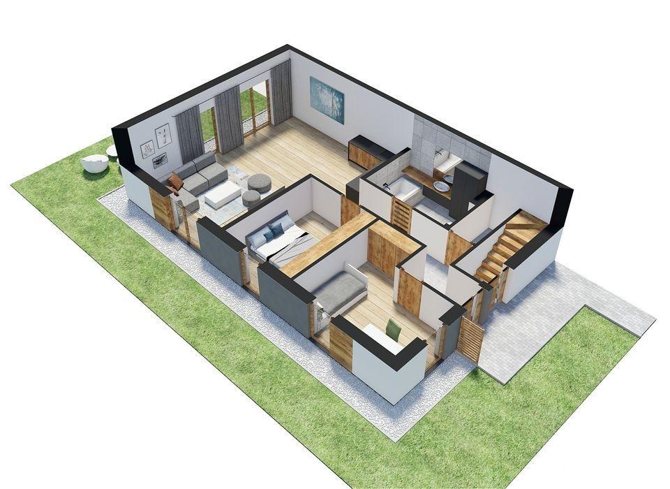Komfortowy apartament z ogródkiem
