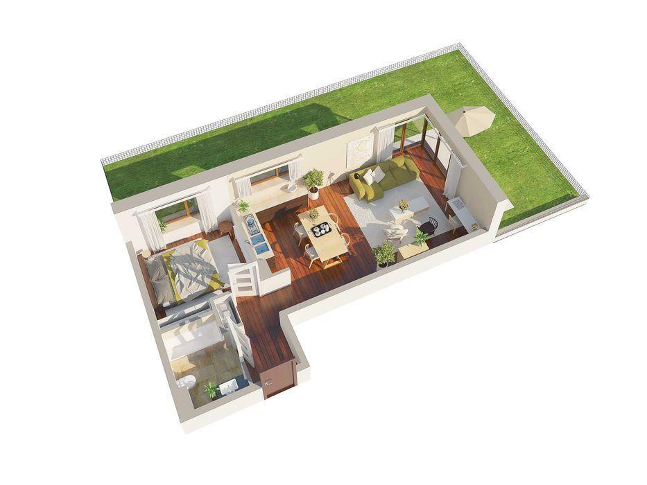 Mieszkanie 54,27m2 z ogródkiem 83m2 garaż w cenie