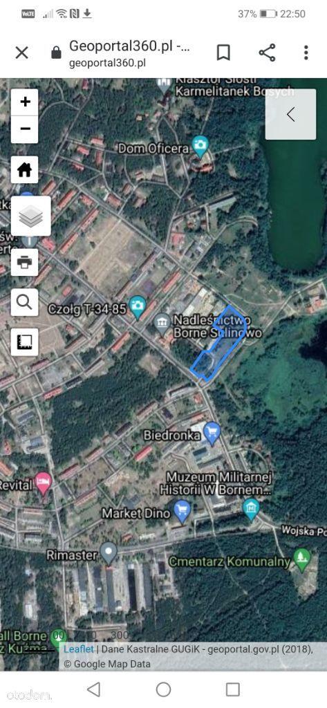Działka Budowlana Borne Sulinowo jezioro Pile