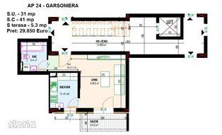 Garsoniera noua 31+5 mpu / Cristalului / Alexandriei / Prel Ghencea