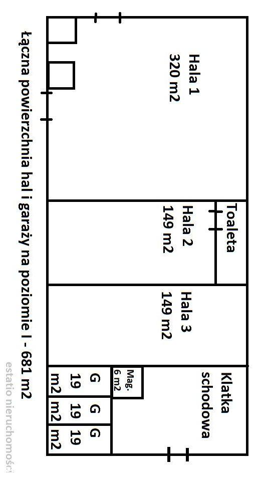 Nieruchomość komercyjna : 3 hale, garaże, kwatery