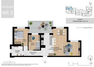 Mieszkanie, 69,70 m², Lublin