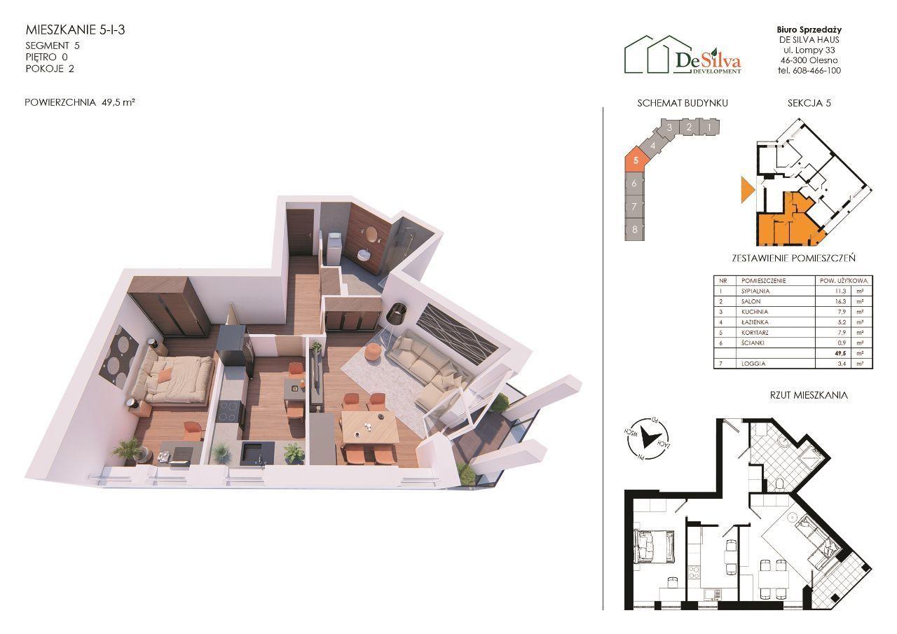 Mieszkanie 2 pokoje nowy blok garaż podziemny 513