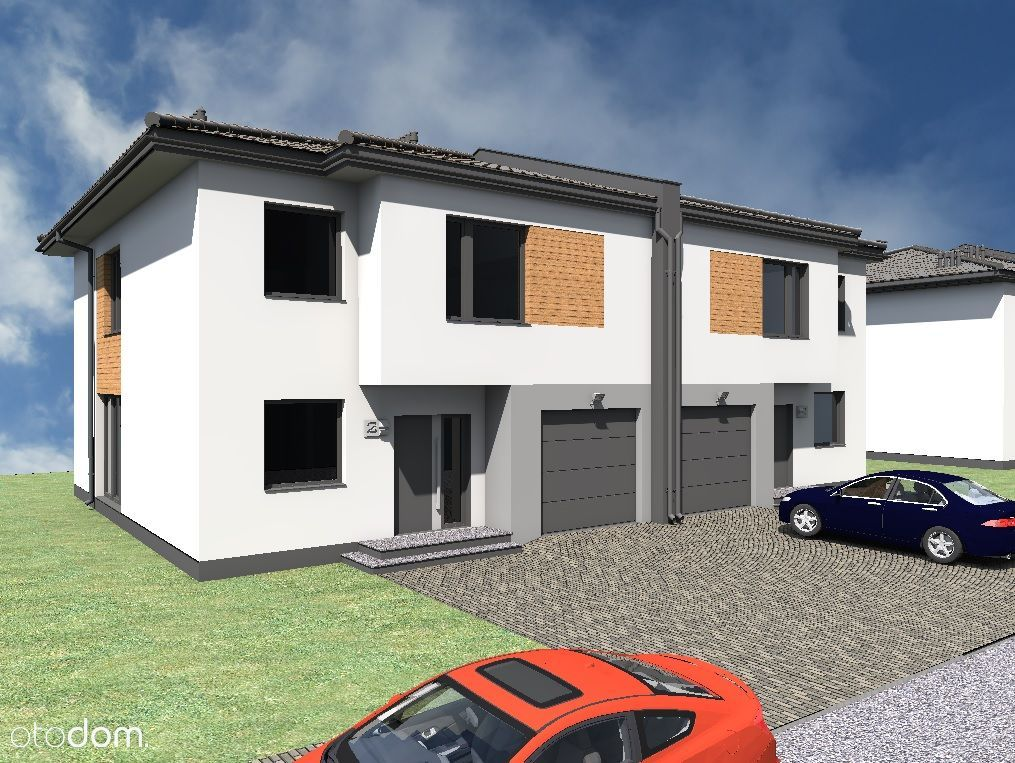 Nowe domy w zabudowie bliźniaczej w Grabówce