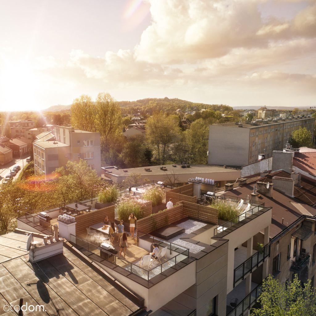 Apartament z trasem na dachu z widokiem na Wawel