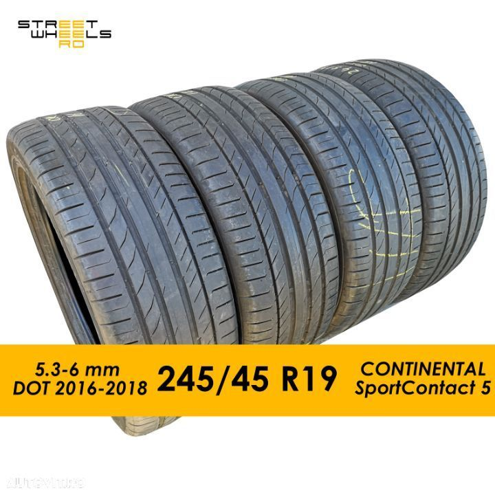 245/45 R19 CONTINENTAL SportContact 5  - 4 Anvelope SH Vara 245 45 19 - 1
